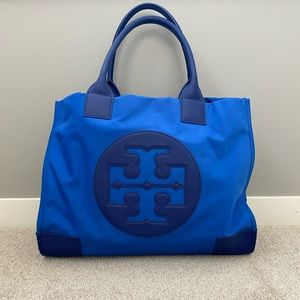 Tory Burch royal blue tote bag